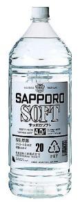 SAPPORO SOFT サッポロソフト 20度 ペット4L